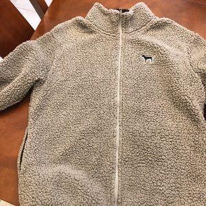 VS PINK full zip Sherpa Jacket size Small